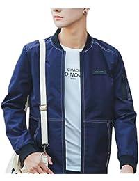 maweisong メンズクラシック固体色の薄い軽量フライトジャケット