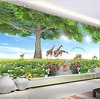 Lcymt カスタム3D公園グリーンロード風光明媚なウォーキングアイルリビングルームの写真の壁紙リビングルームの背景壁画B-120X100Cm