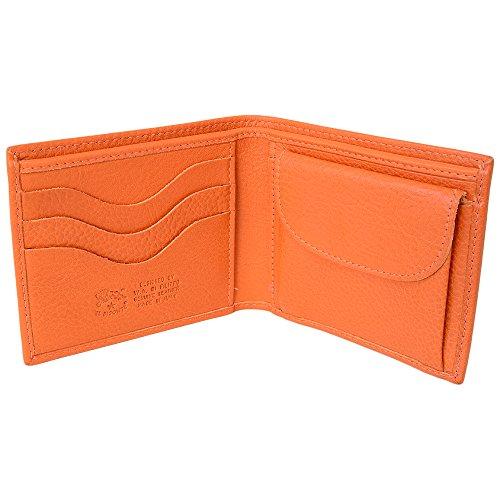 (イルビゾンテ) IL BISONTE イルビゾンテ 財布 二つ折り財布 小銭入れあり カウハイドレザー C0487/MP 166 Orange オレンジ系 無地柄 革 メンズ サイフ ウォレット [並行輸入品]
