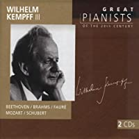 Wilhelm Kempff III (Great Pianists of the 20th Century series) - Beethoven / Brahms / Faure / Mozart /Schubert by Wilhelm Kempff (2002-11-21)
