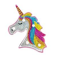 クリエイティブDIYフルダイヤモンド絵画馬LEDライト寝室の装飾ナイトランプ、Gurupu