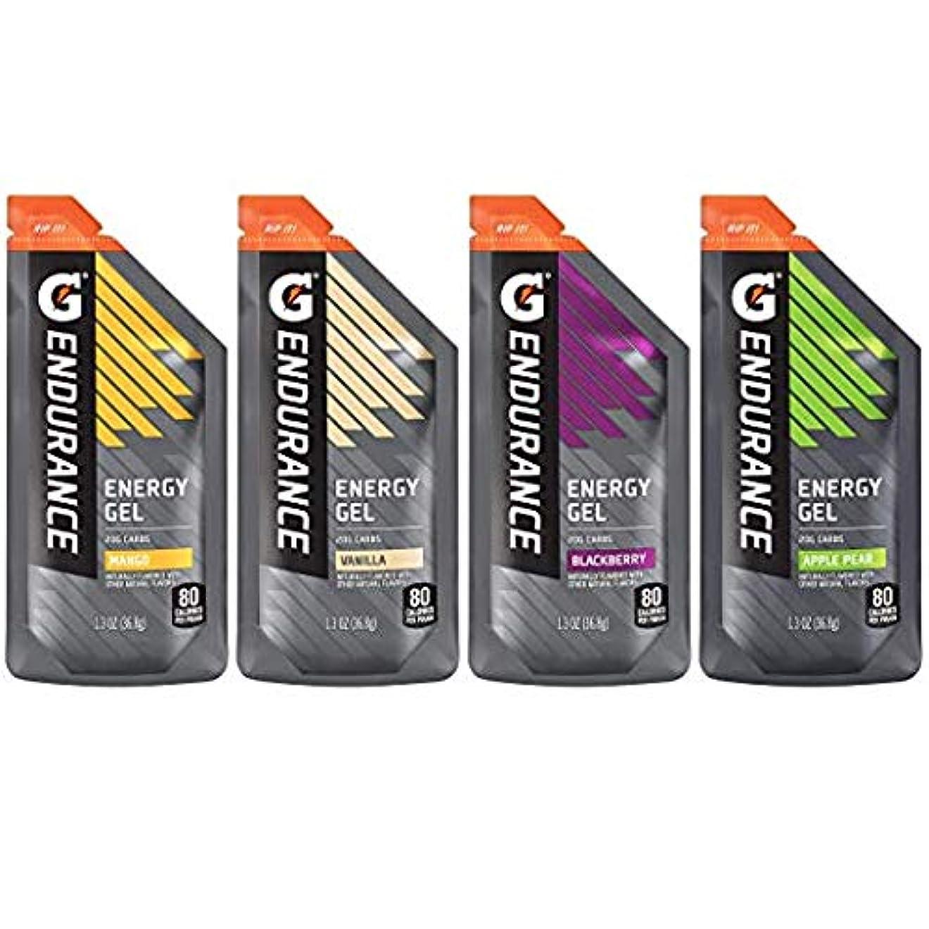 手スズメバチ理容師Gatorade Endurance Energy Gel ゲータレード エナジージェル、 4フレーバーバラエティーパック、36.8gx12個 [並行輸入品]