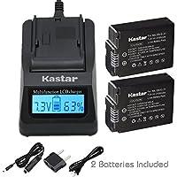 Kastar超高速充電器(3x Faster) キットとバッテリ(2- Pack) for Nikon en-el21、MH - 28で作業Nikon 1V2カメラ[ over 3x通常より高速充電器ポータブルUSB充電機能を]