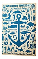 Maritime Decoration Tin Sign ブリキ看板 Anchor Fish Mermaid wheel Decorative Wall