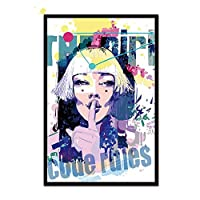 キャンバスウォールアートの絵画、Hdプリントポスター抽象水彩油絵スタイル女性顔ポートレートポスターノルディック現代壁アートキャンバスインクジェット絵画画像用リビングルーム家の装飾70×100センチ