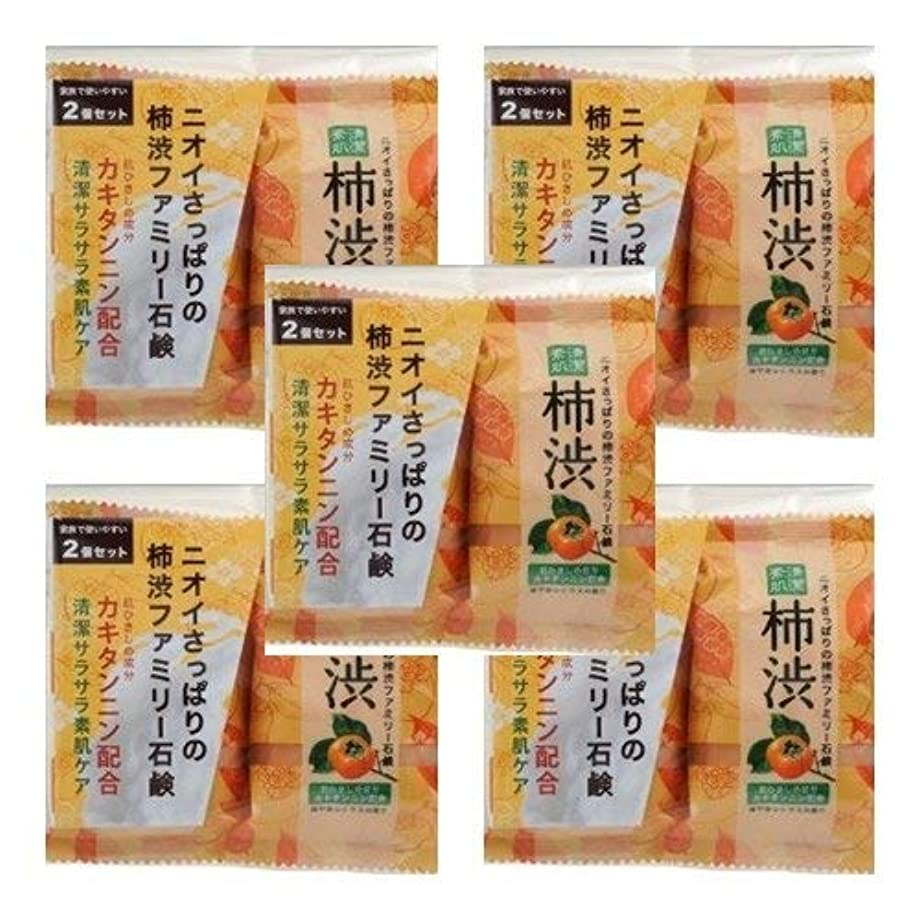 協力独特の適用済みペリカン石鹸 ファミリー柿渋石けん 2個入×5点セット