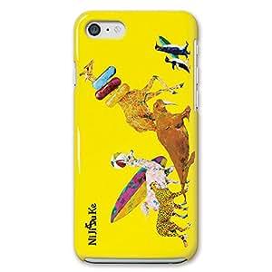 iPhoneSE iPhoneケース (ハードケース) [薄型/耐熱/全面印刷] Nijisuke (ニジスケ) アニマルビーチ CollaBorn (iPhone5s/iPhone5対応)