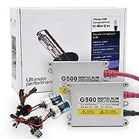 Chylay AC 55W HID キセノン ヘッドライト 変換キット H7 キセノン電球 球根 スリムデジタル 安定器 6000k 純白 8000k 青白い