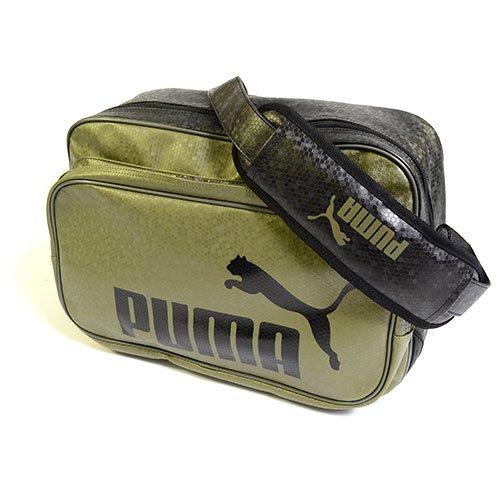 PUMA(プーマ) エナメルバッグ TS マット ASB タイプB ショルダー Mサイズ 23L オリーブ/ブラック 072404-06