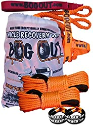BOG OUT 'Aussie' - SUPER PRO (Twin) Vehicle Recovery Kit - TURNS WHEELS INTO WINCHES - 7T Twin Pack - 2 x BOG OUT + 2 x 15mt