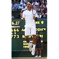Roger Federer Tennis Stars Spunシルク生地壁ポスタープリント( 36 x 24インチ90 x 60 cm ) by bribase shop 40 inch x 24 inch