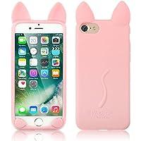 iphone 7 ケース 薄型、SIMPLE DO スマホケース レザー 携帯ケース 背面カバー 耐衝撃 かわいい おしゃれ(ピンク)