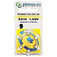 プレミアムバッテリープレミアムプラス空気亜鉛補聴器用電池ZA10 1.45Vサイズ10、PR70、P10(600のバッテリー)
