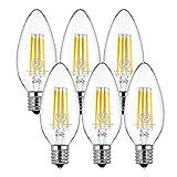 シャンデリア E17 口金 40W形相当 電球色 6個セット led電球 シャンデリア電球 シャンデリアled 密閉形器具対応 2年保証 e17電球 ホタルスイッチ対応 調光器非対応