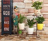 GZSRBSB 園芸ラック 植木鉢のための多層の花/植物の棚/棚の鉄の金属の永続的な棚棚の屋外/屋内生活の装飾のための棚の立場の庭の貯蔵の棚(2サイズ) (Size : L30in)