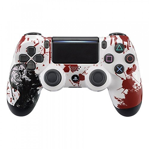 eXtremeRate The Zombie Blood Patterned Front Housing Shell Faceplate Cover for Playstation 4 PS4 Slim PS4 Pro Controller (CUH-ZCT2 JDM-040 JDM-050 JDM-055) [並行輸入品]