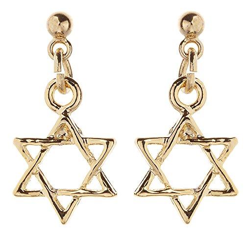 [해외]액세서리 숍 피 에나 논호루삐아스 일제 귀걸이 비 알레르기 자연 모티브 골드 여성 육망성/Accessories Shop Piena Non Hole Pierced Made in Japan Earrings Non Allergic Natural Motif Gold Ladies 6 Square Stars