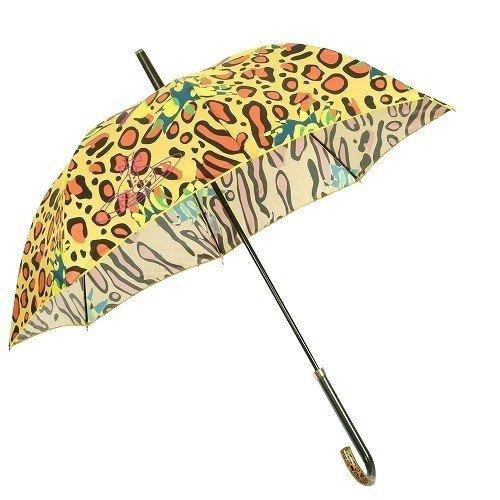 【Vivienne Westwood】ヴィヴィアンウエストウッド 「I am expensive」レオパード婦人長傘(雨傘) 黄色
