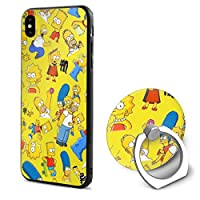 DSM_case IPhone X ケース Case シンプソンズ Simpsons 耐衝撃 スマートフォンケース 充電対応 薄型 超軽量 超耐磨 脱着簡単 カバー White