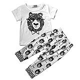 【ノーブランド 品】幼児 綿100% 可愛い Tシャツ+パンツ 服子供服 3サイズ選べる - 80