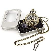クラシック 鹿デザイン 懐中時計 チェーン クォーツ 懐中時計 鹿 トナカイ ビンテージ クォーツ 懐中時計 箱付き