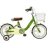 CHIBICLE チビクル 子供用自転車 16インチ チェーンカバー カゴ 泥除け 補助輪付き グリーン MKB16-34-GR