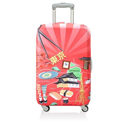 (ローキー) LOQI スーツケース キャリーバック カバー ラッゲージカバー 09.【URBAN】Tokyo【Mサイズ】