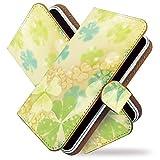 KEIO ケイオー GS03 カバー 手帳型 綺麗 GS 03 手帳 カラフル GS03 ケース 三つ葉 ジーエス 手帳型ケース ittn三つ葉t0166