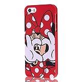 レイ・アウト iPhone SE/5s/5 ケース ディズニー・クローズアップ・ソフト/ミニー RT-DP5SH/MN