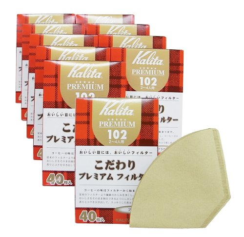 カリタ こだわりプレミアムフィルター 102 ブラウン 2-4人用 40枚入り×10箱