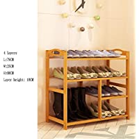 YNN 靴ラック多層アセンブリ靴キャビネットホームソリッドウッドキャビネットバンブーラック4/5/6層 (サイズ さいず : 79*25*68cm)