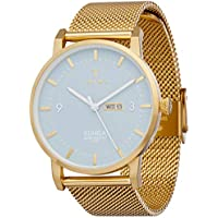Triwa Unisex-Adult Quartz Klinga Watch analog Display and Gold Plated Strap, KLST106-ME021313