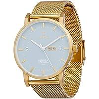 Triwa Unisex-Adult Quartz Klinga Watch analog Display and Gold Plated Strap, KLST106-ME021313