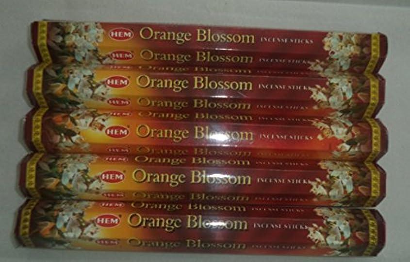 ささやき写真のインディカHem Orange Blossom 100 Incense Sticks (5 x 20スティックパック)