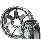 [265/70R17] YOKOHAMA / iceGUARD SUV G075 スタッドレス [2/-] [HOT STUFF / MAD CROSS MC76 (DS) 17インチ] スタッドレス&ホイール4本セット FJクルーザー(10系)