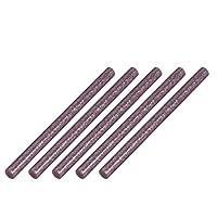uxcell ホットメルト接着スティック 接着剤 ライトパープル 長さ100mm 直径7mm 5個入り