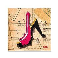 Roderick Stevens のトレードマーク ファインアート スエードヒール ピンク 壁装飾 14 by 14-Inch RS971-C1414GG