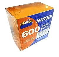 600シート用紙NOTEキューブパック( 3.5インチx 3.5インチ)–ホワイト用紙–Non Sticky 。Inディスペンサーパック。