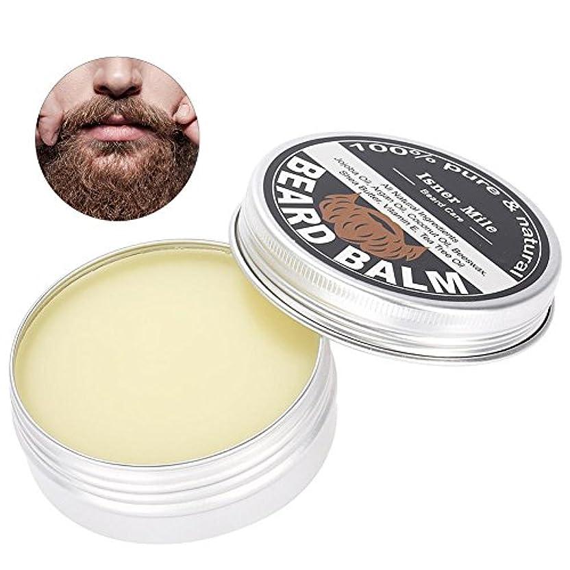 ひげバーム、口ひげワックスベストひげコンディショナーメンズひげグルーミングバーム口ひげ保湿軟化剤の形状とスタイルへひげワックスシェービングケア60g