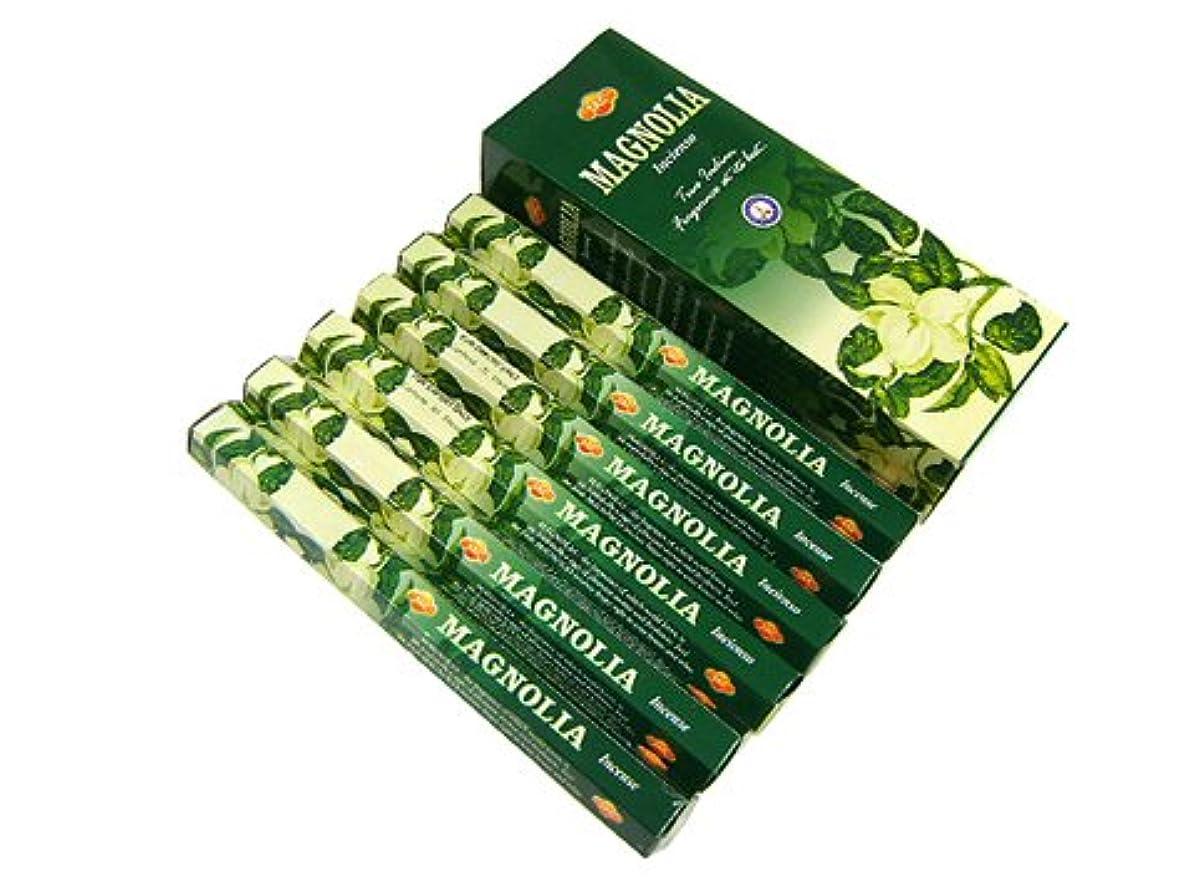 突然の長方形手当SANDESH SAC (サンデッシュ) マグノリア香 スティック MAGNOLIA 6箱セット