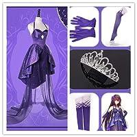 Fate/Grand Order FGO Fes2017 2周年ドレス スカサハ 師匠 コスプレ衣装+王冠