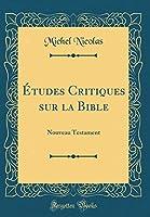 Études Critiques Sur La Bible: Nouveau Testament (Classic Reprint)