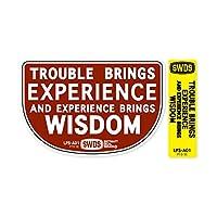 コトワザステッカー PROVERB STICKER LPS-A SERIES 「苦労が経験をもたらし経験が知恵をもたらす」_SC-LPSA01-SXW