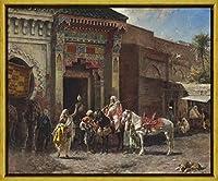 フレーム Edwin Lord Weeks ジクレープリント キャンバス 印刷 複製画 絵画 ポスター(ガンバイヤー) #XLK