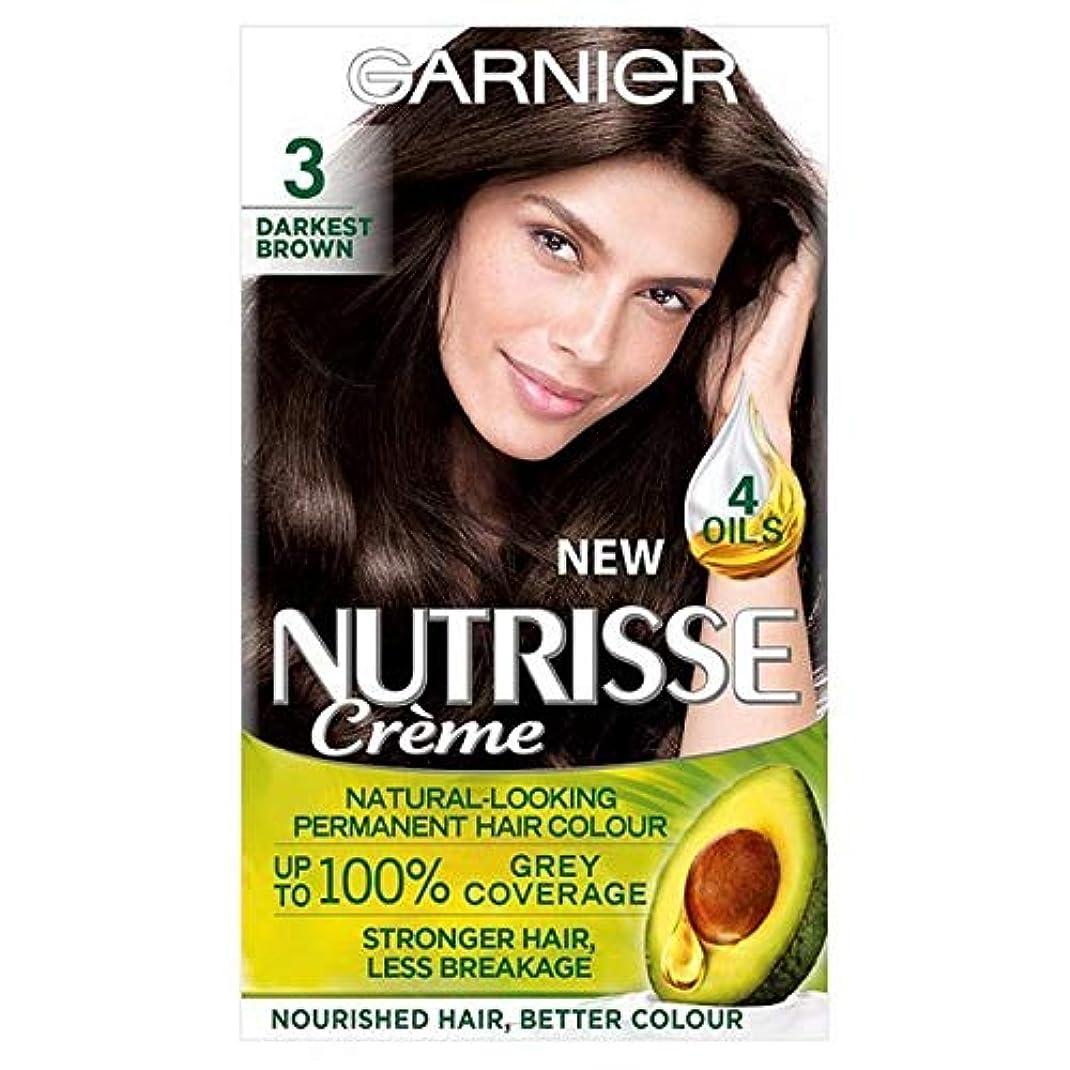 潮波不愉快[Garnier ] 3暗い茶色ガルニエNutrisseパーマネントヘアダイ - Garnier Nutrisse Permanent Hair Dye Darkest Brown 3 [並行輸入品]