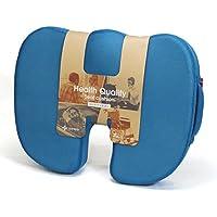 シートクッション Lipropp 姿勢維持 低反発 メッシュ生地 体圧分散が優れた 高機能座布団 オフィス 腰痛 美尻 洗えるカバー付き (ブルー)