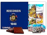 """DA CHOCOLATE キャンディ スーベニア """"ウィスコンシン """" WISCONSIN チョコレートセット 5×5一箱 (Flag)"""