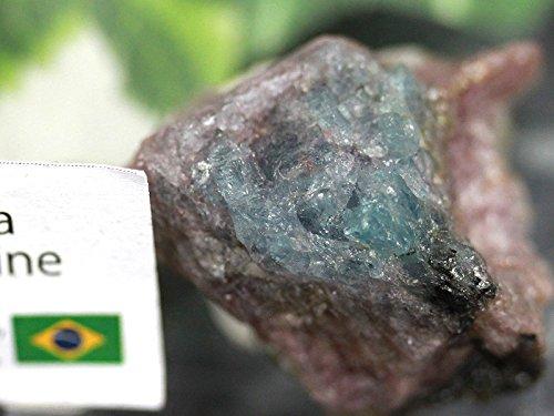 【天然石の島田商事】超希少!ブラジル パライバ州 サンジョゼ・ダ・バターリャ鉱山産 天然原石 パライバトルマリン原石(Paraiba Tourmaline 電気石)約H25×W26×D18mm 1個/ac-02976