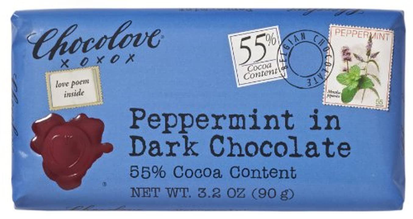 スキャンダル練習燃やすChocolove B30392 Chocolove Peppermint In Dark Chocolate -12x3.2oz