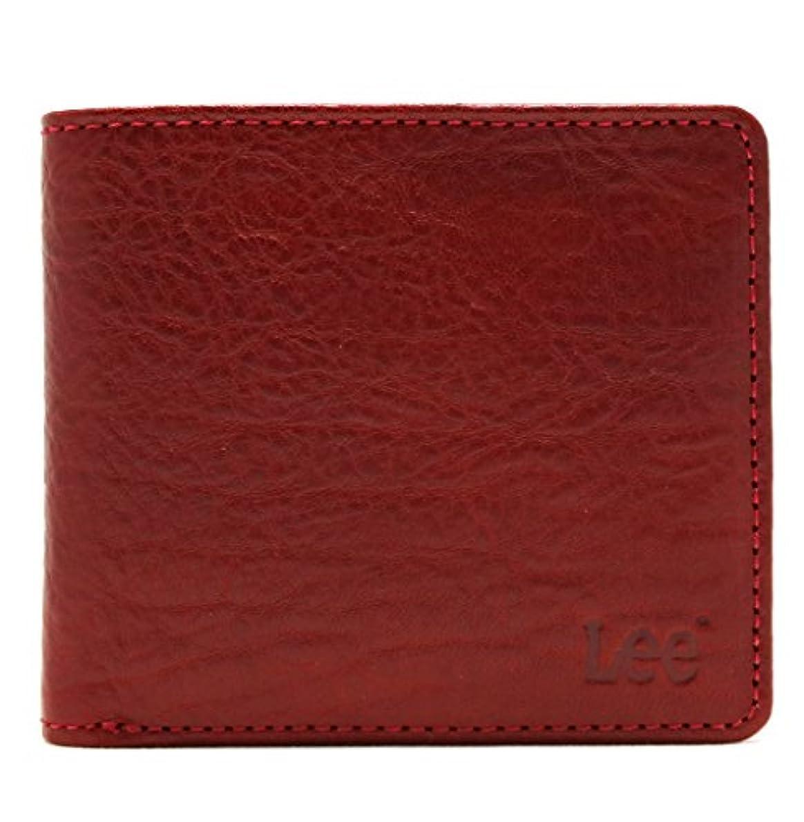 胃ストレスジョブ(リー) Lee ブランド メンズ 財布 二つ折り イタリアンレザー レッド 新色 落ち着いた感じのデザイン プレゼントに最適? (The Little)